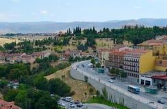 Vista sopra la città di Segovia, Spagna Fotografie Stock