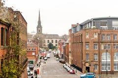 Vista sopra la collina di Ludgate con la st Paul Church nel fondo Fotografie Stock Libere da Diritti