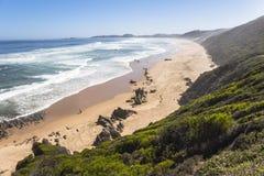 Vista sopra la costa sull'itinerario del giardino, Sudafrica Immagini Stock Libere da Diritti