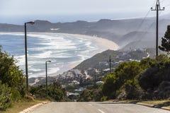 Vista sopra la costa sull'itinerario del giardino, Sudafrica Fotografia Stock