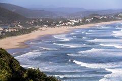 Vista sopra la costa sull'itinerario del giardino, Sudafrica Fotografie Stock
