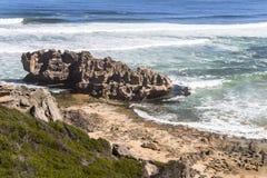 Vista sopra la costa sull'itinerario del giardino, Sudafrica Immagine Stock Libera da Diritti