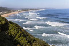 Vista sopra la costa sull'itinerario del giardino, Sudafrica Fotografia Stock Libera da Diritti