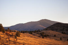 Vista sopra la cresta del deserto Fotografia Stock Libera da Diritti