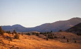 Vista sopra la cresta del deserto Immagini Stock