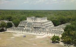 Vista sopra la giungla Chichen Itza Fotografia Stock