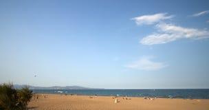 Vista sopra la spiaggia Fotografie Stock