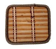 Vista sopra la stuoia del bambù fotografie stock libere da diritti
