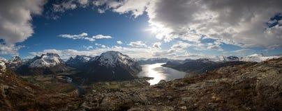 Vista sopra la valle di Rauma fotografia stock libera da diritti