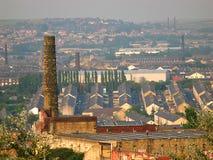 Vista sopra la vecchia città del cotone di Burnley Lancashire Fotografia Stock Libera da Diritti