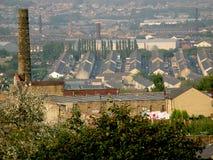 Vista sopra la vecchia città del cotone di Burnley Lancashire Fotografia Stock