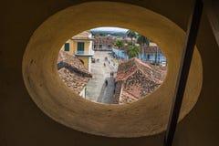 Vista sopra la via di Trinidad Fotografia Stock