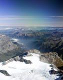 Vista sopra le alpi Immagini Stock Libere da Diritti