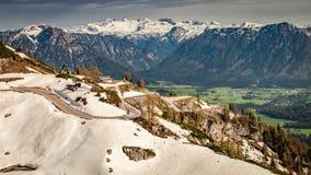 Vista sopra le alpi dalla cima nevosa, Austria Fotografia Stock Libera da Diritti
