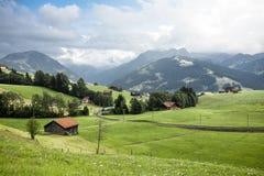 Vista sopra le belle alpi svizzere Fotografia Stock Libera da Diritti