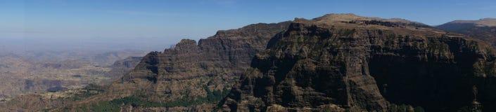 Vista sopra le montagne di Simien in Etiopia Immagini Stock