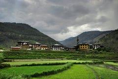 Vista sopra le montagne nel Bhutan Immagine Stock Libera da Diritti