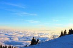 Vista sopra le nuvole Immagine Stock Libera da Diritti