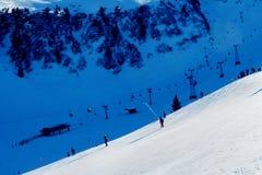 Vista sopra le tracce svizzere Fotografia Stock