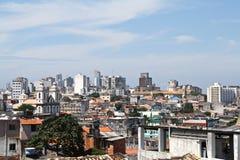 Vista sopra le vecchie case in Salvador Bahia, Brasile Fotografia Stock Libera da Diritti