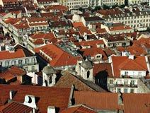 Vista sopra Lisbona, Portogallo Fotografie Stock Libere da Diritti