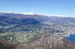 Vista sopra Lugano - la Svizzera Fotografia Stock Libera da Diritti