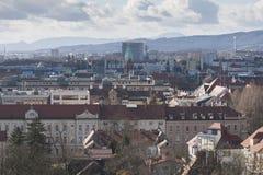 Vista sopra Maribor Fotografia Stock Libera da Diritti