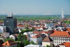 Vista sopra Monaco di Baviera Fotografia Stock Libera da Diritti