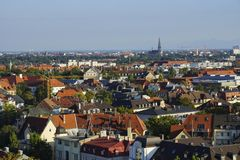 Vista sopra Monaco di Baviera Fotografia Stock