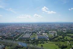 Vista sopra Monaco di Baviera, Baviera Immagini Stock Libere da Diritti