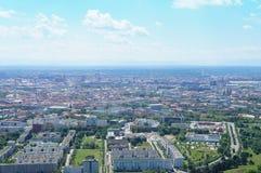 Vista sopra Monaco di Baviera, Baviera in Germania Fotografie Stock