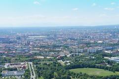 Vista sopra Monaco di Baviera, Baviera in Germania Immagine Stock Libera da Diritti