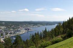 Vista sopra Oernskoldsvik Svezia Fotografie Stock Libere da Diritti