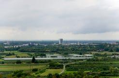 Vista sopra Offenburg Fotografia Stock Libera da Diritti