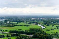 Vista sopra Offenburg, Germania Immagini Stock Libere da Diritti