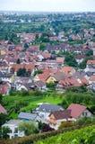 Vista sopra Offenburg, Germania Immagine Stock Libera da Diritti