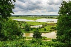 Vista sopra paesaggio olandese Fotografie Stock Libere da Diritti
