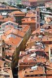Vista sopra Palais Rusca in Nizza, Francia Fotografie Stock