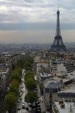 Vista sopra Parigi Fotografia Stock