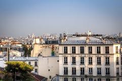 Vista sopra Parigi da montmartre immagini stock libere da diritti