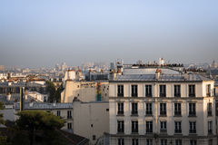 Vista sopra Parigi da montmartre Fotografie Stock