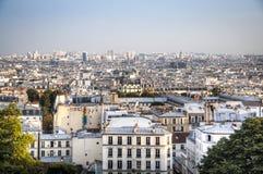 Vista sopra Parigi da montmartre Immagine Stock Libera da Diritti