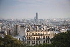 Vista sopra Parigi da montmartre Fotografia Stock