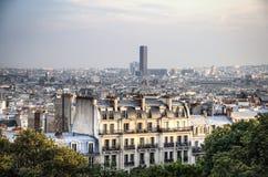 Vista sopra Parigi da montmartre Fotografie Stock Libere da Diritti