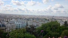 Vista sopra Parigi, Francia da una collina a Montmartre Fotografia Stock Libera da Diritti