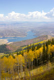 Vista sopra Park City, Utah immagini stock