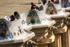Vista sopra parque Guell a Barcellona, Spagna Fotografia Stock Libera da Diritti