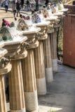Vista sopra parque Guell a Barcellona, Spagna Fotografie Stock Libere da Diritti