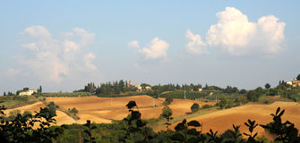 Vista sopra Passignano, Toscana immagine stock