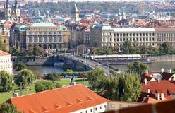 Vista sopra Praga Immagine Stock Libera da Diritti